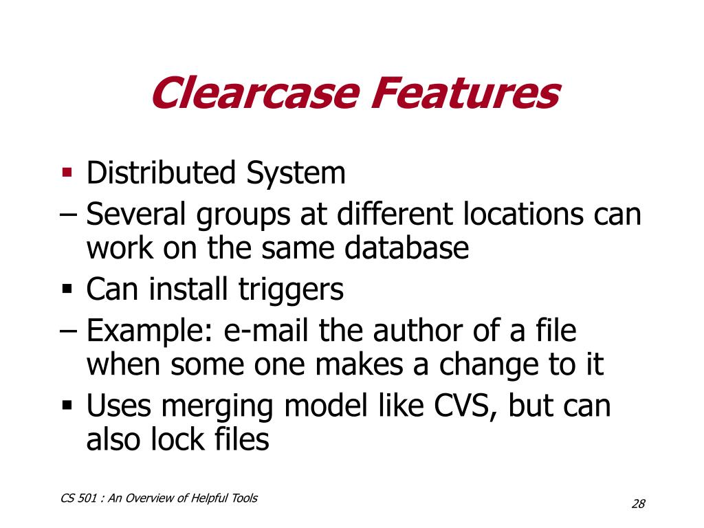 Clearcase Features