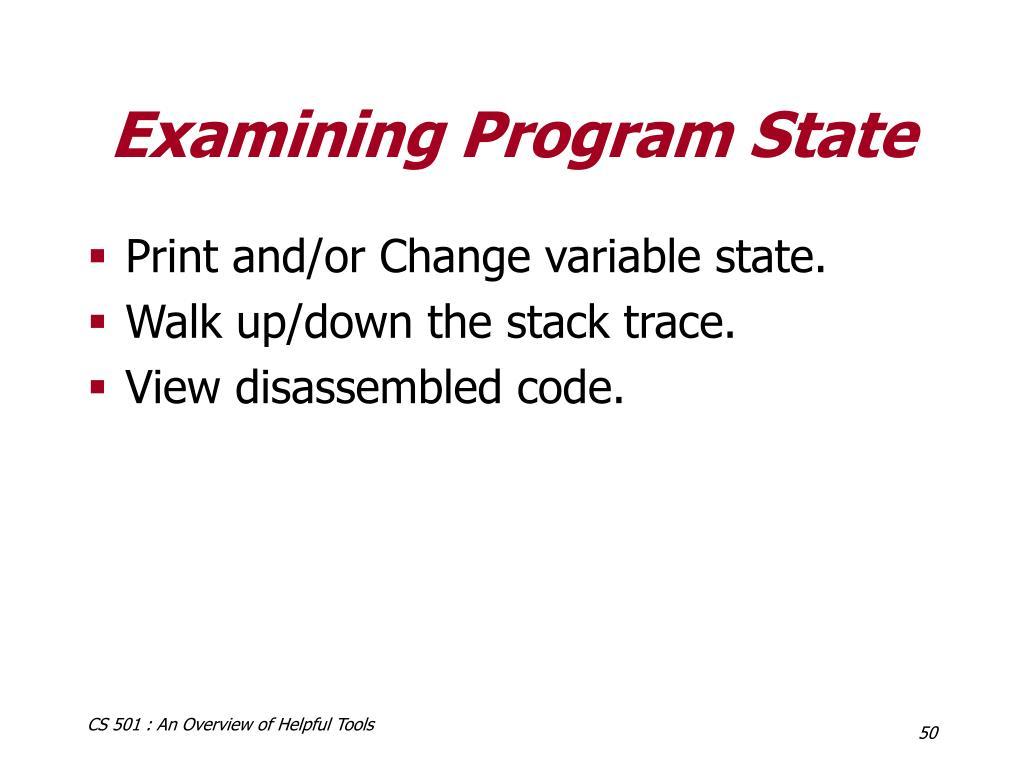 Examining Program State