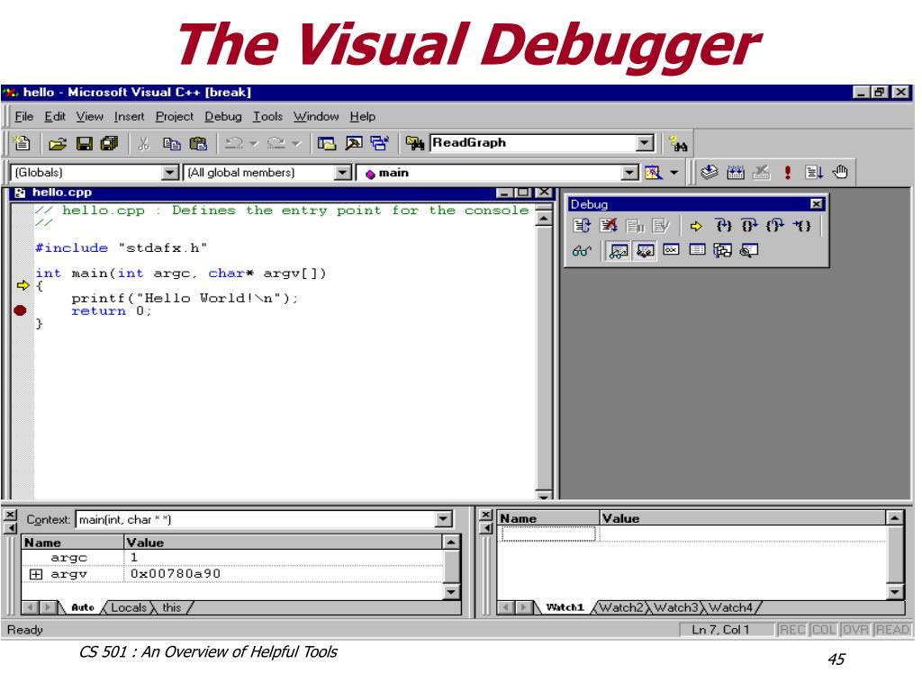The Visual Debugger
