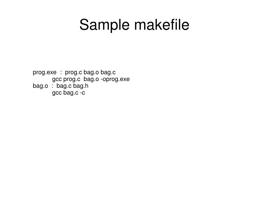 Sample makefile