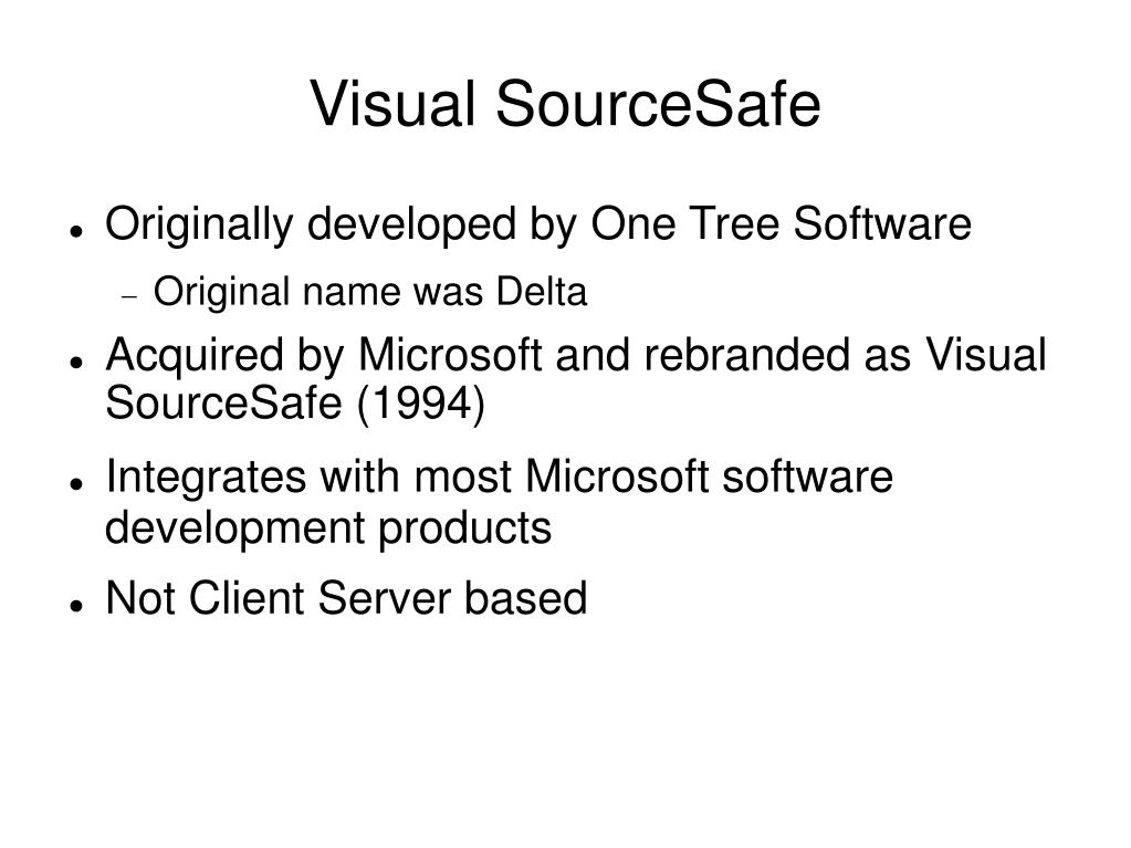 Visual SourceSafe