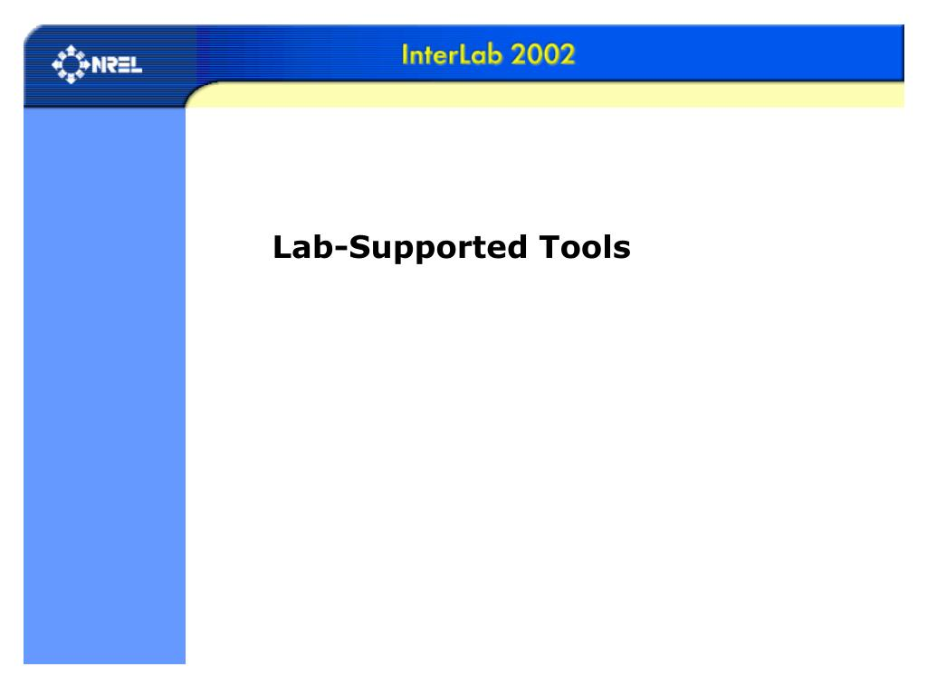 Lab-Supported Tools