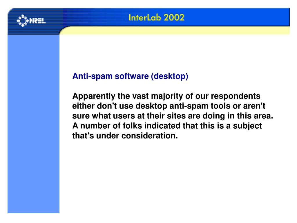 Anti-spam software (desktop)