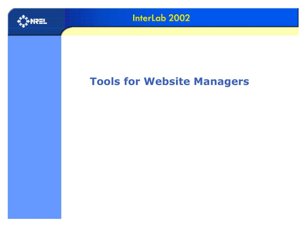 Tools for Website Managers