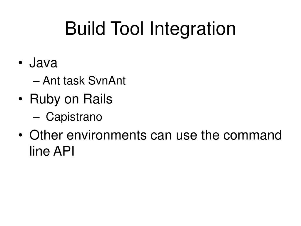 Build Tool Integration