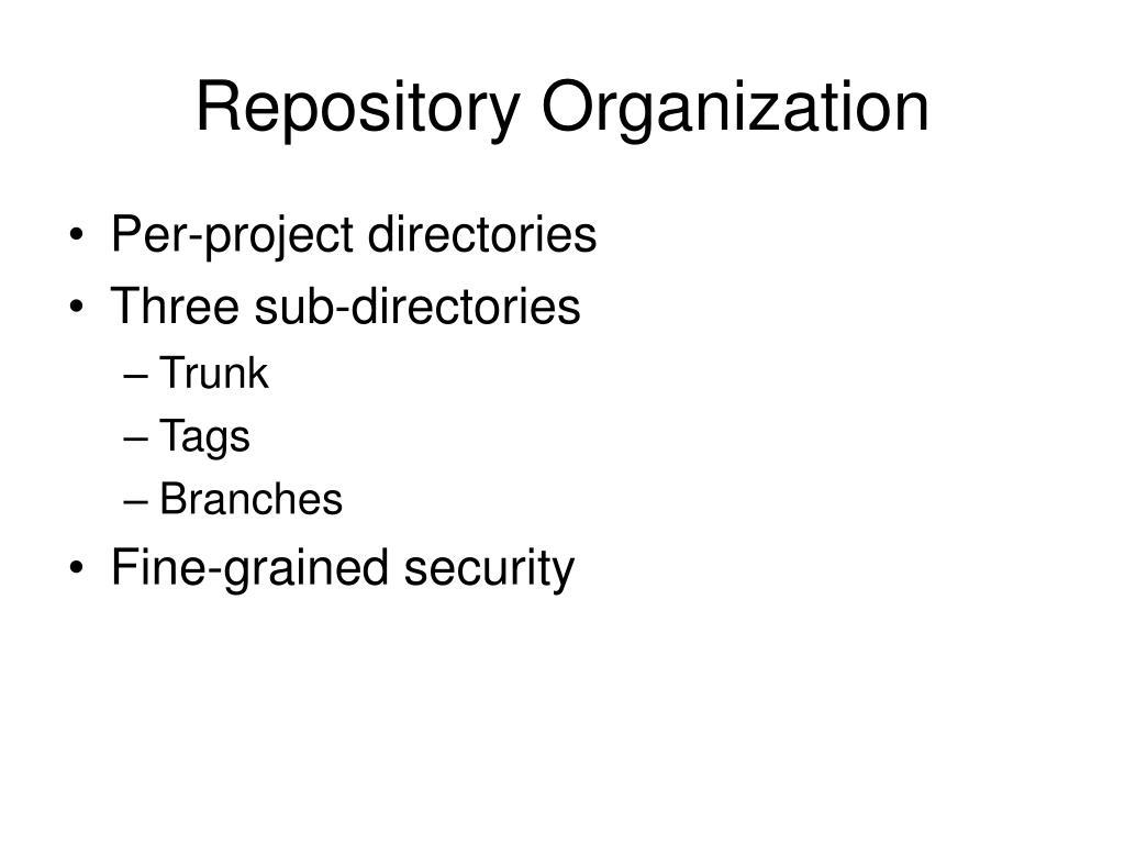 Repository Organization