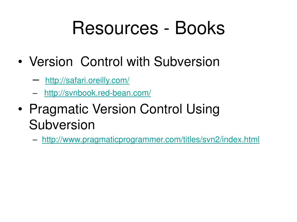 Resources - Books