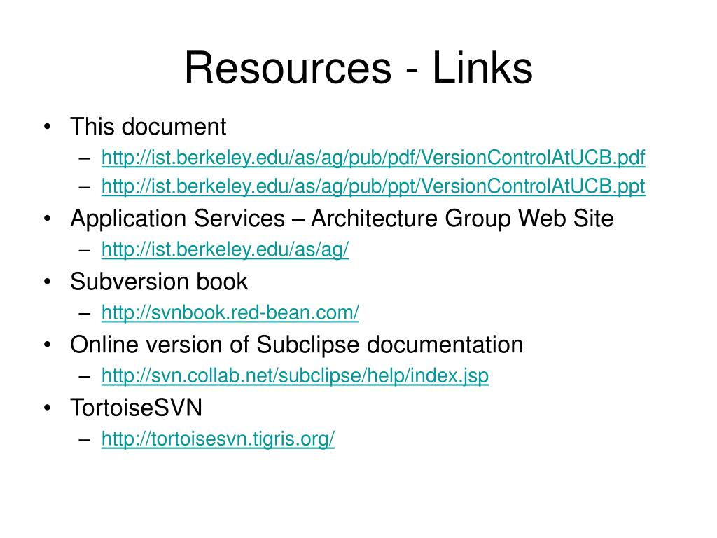 Resources - Links