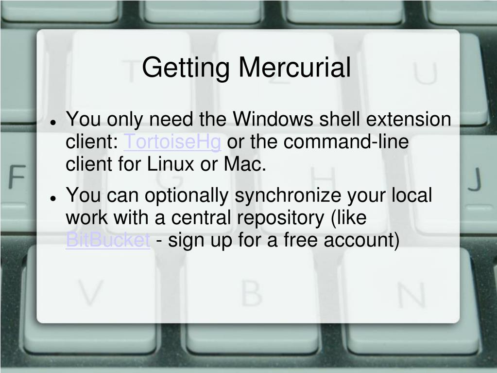 Getting Mercurial