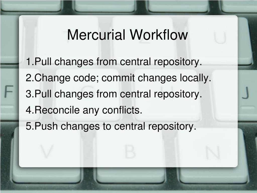 Mercurial Workflow