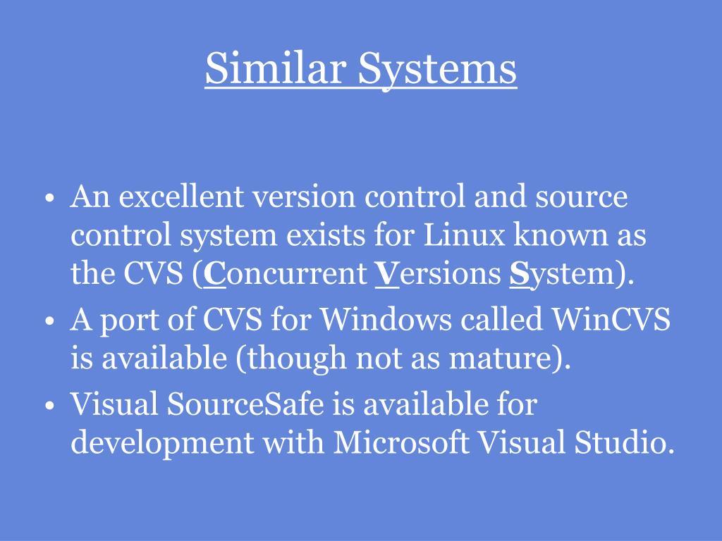 Similar Systems