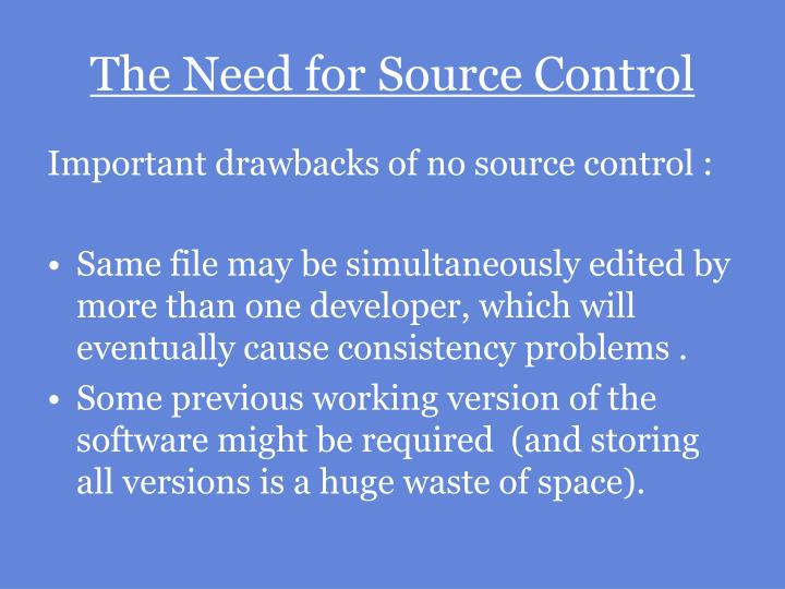 The need for source control3