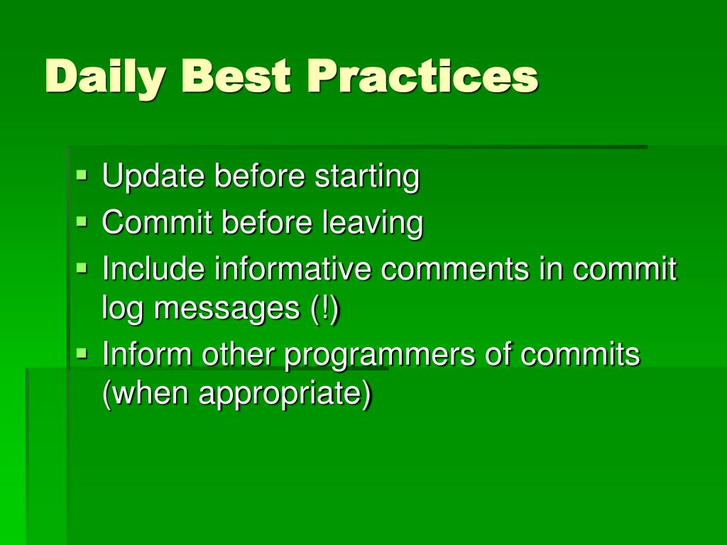 Daily Best Practices