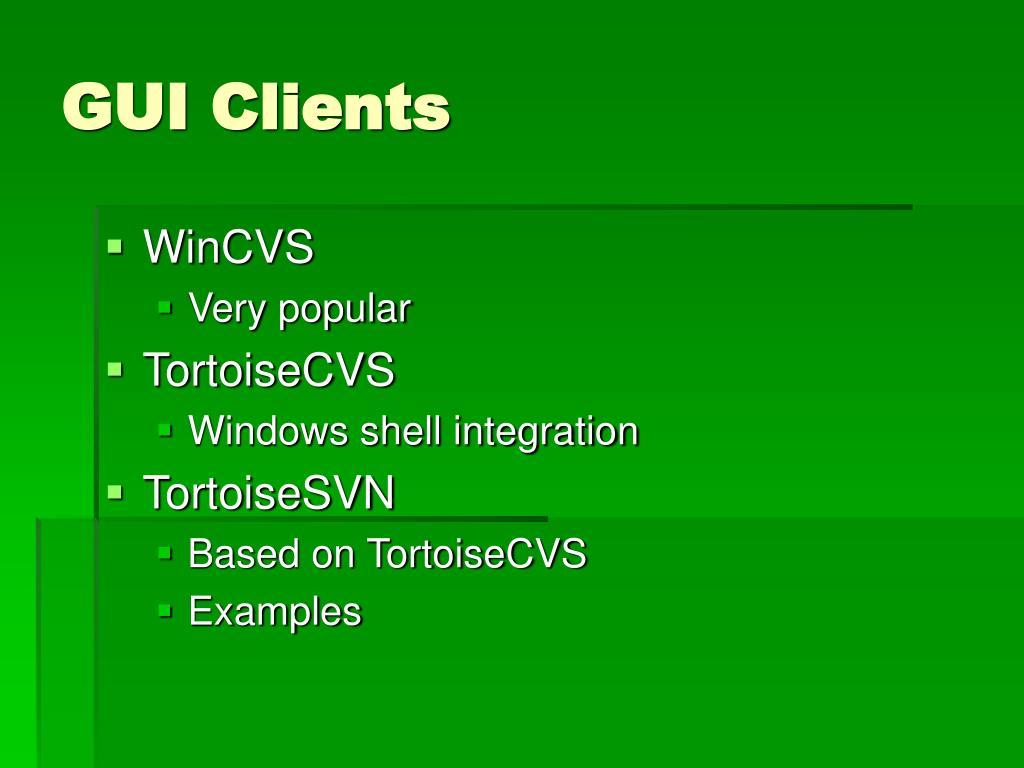 GUI Clients