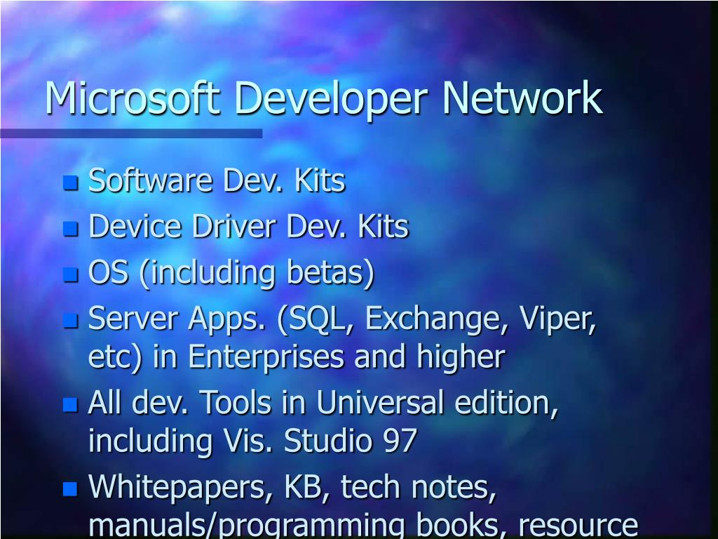 Microsoft Developer Network