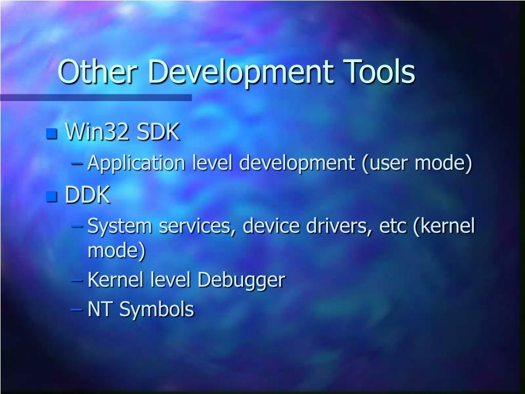 Other Development Tools