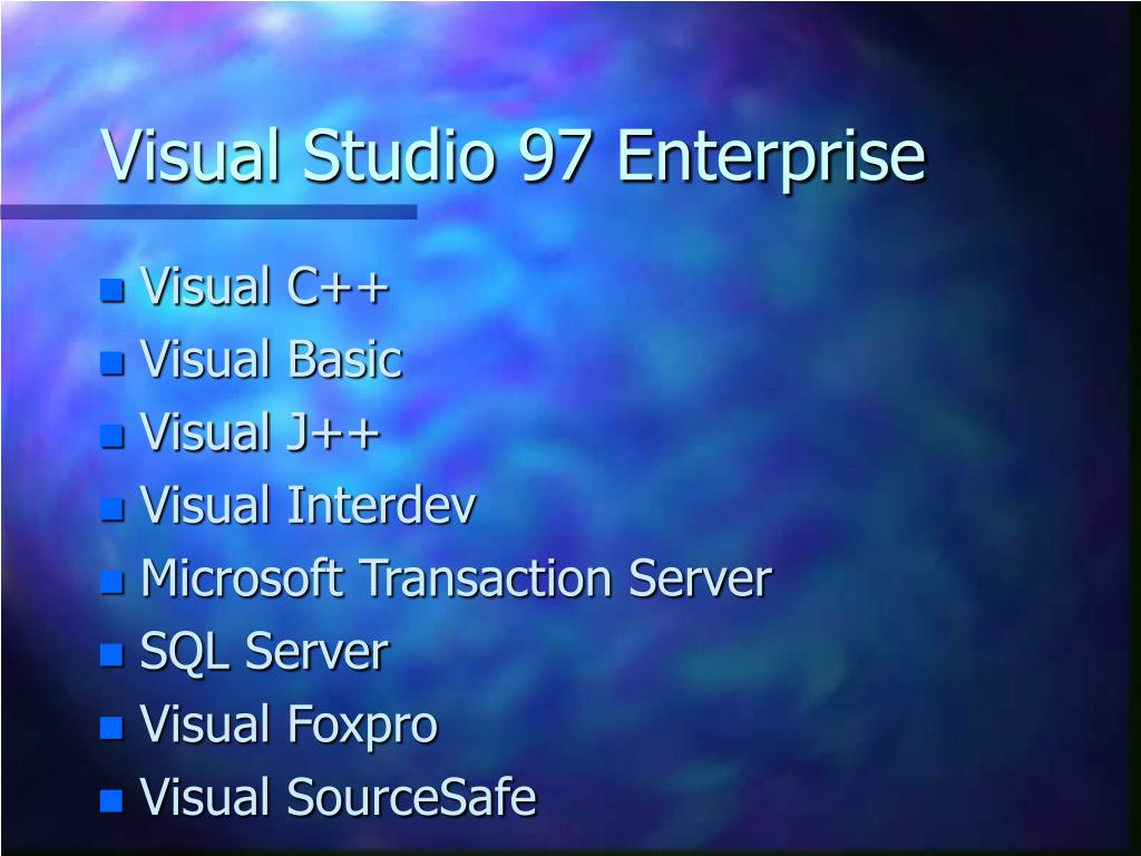 Visual Studio 97 Enterprise