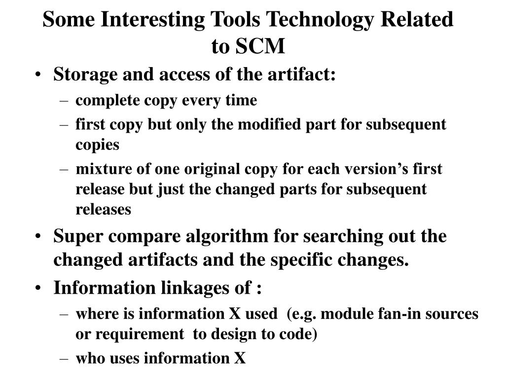 Some Interesting Tools Technology Related to SCM