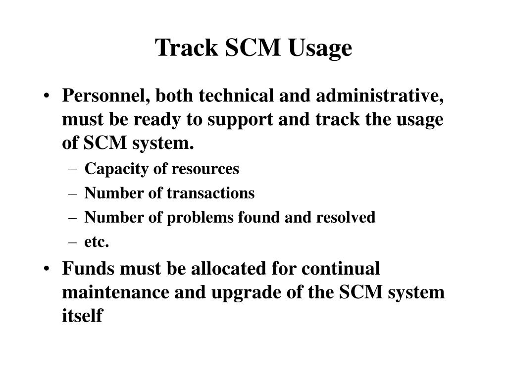 Track SCM Usage