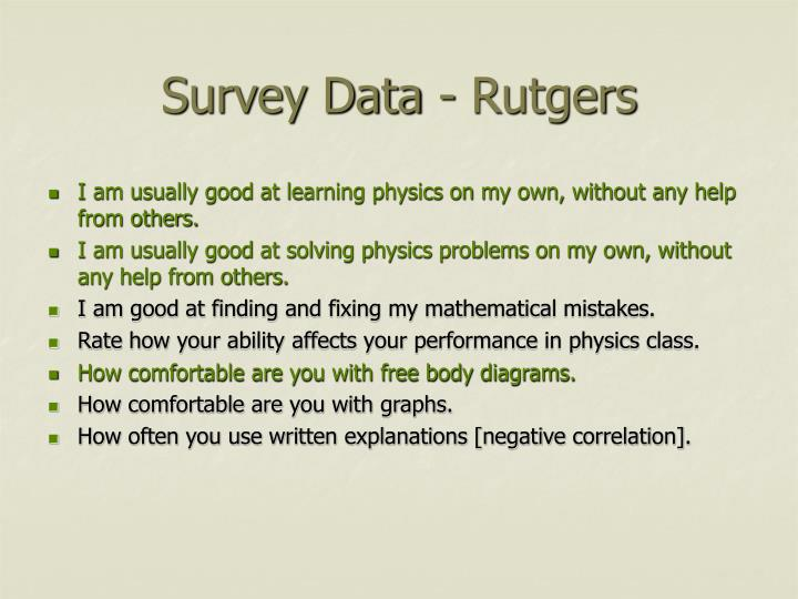 Survey Data - Rutgers