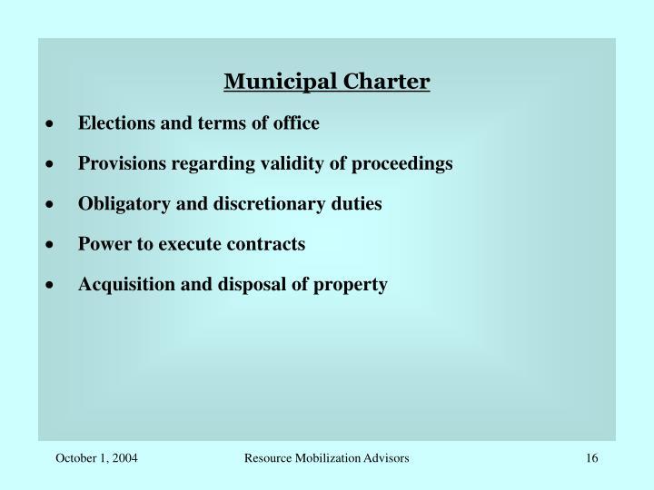 Municipal Charter