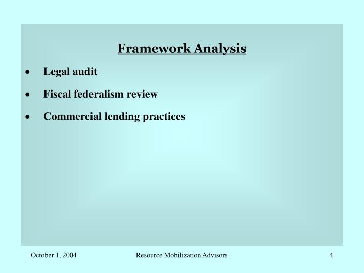 Framework Analysis