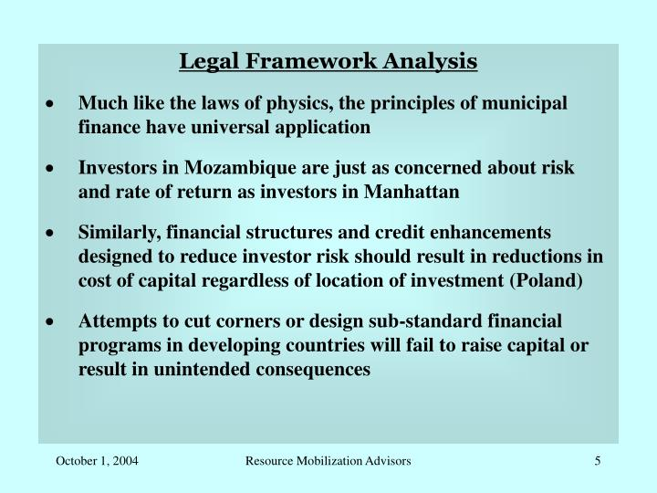 Legal Framework Analysis