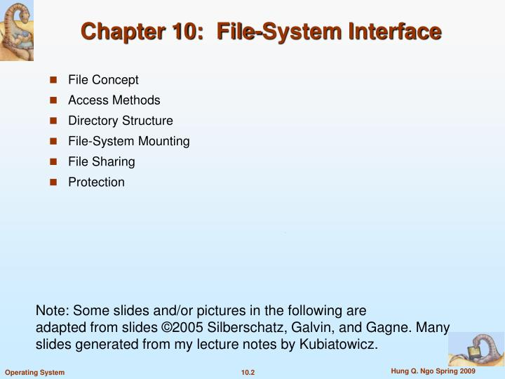 Chapter 10 file system interface2