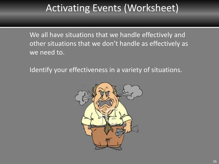 Activating Events (Worksheet)