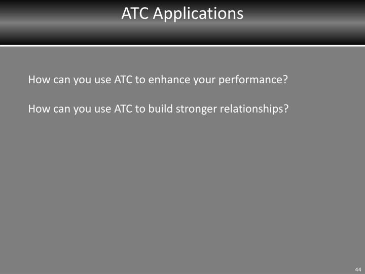 ATC Applications