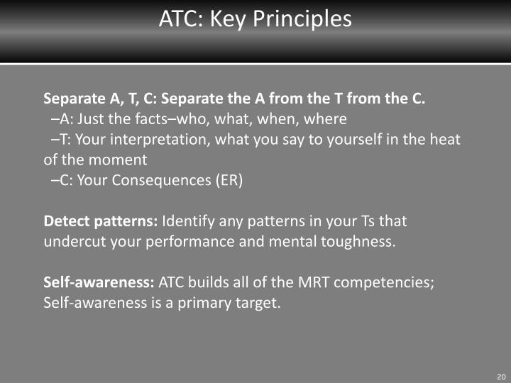 ATC: Key Principles