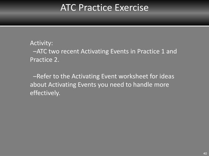 ATC Practice Exercise