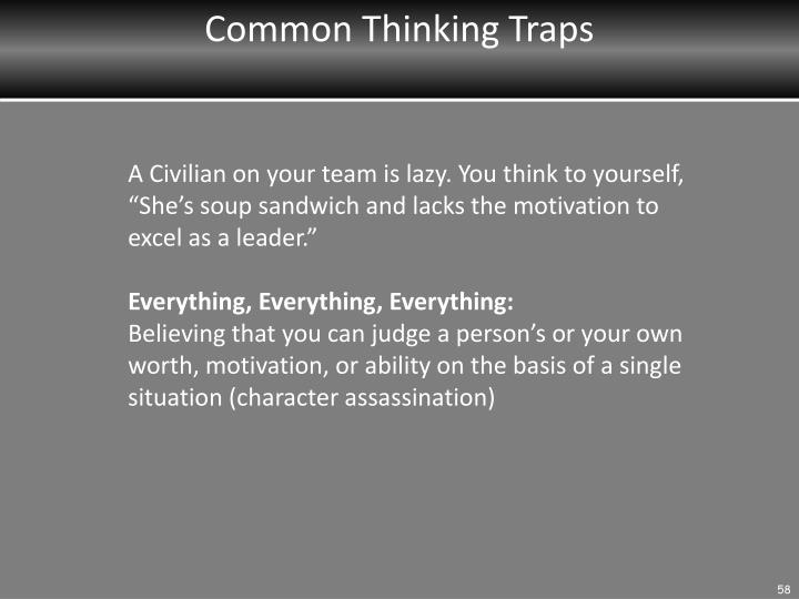 Common Thinking Traps