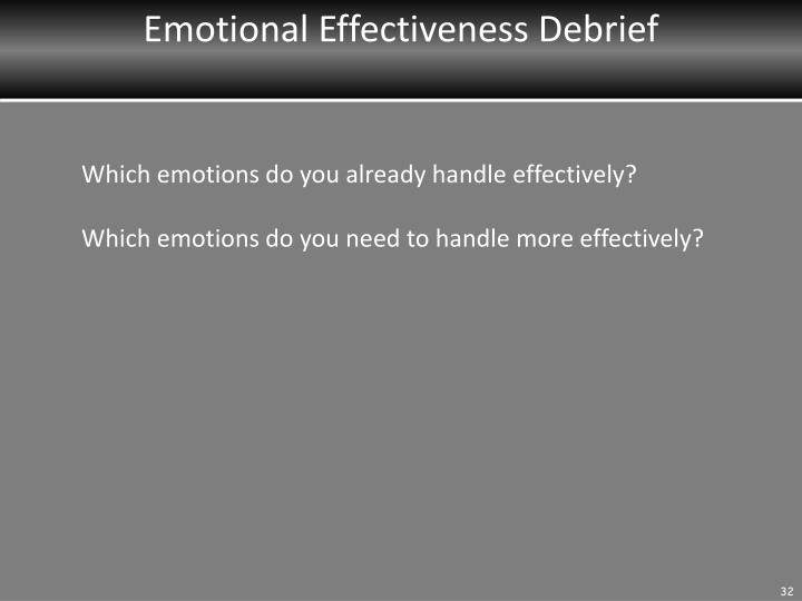 Emotional Effectiveness Debrief