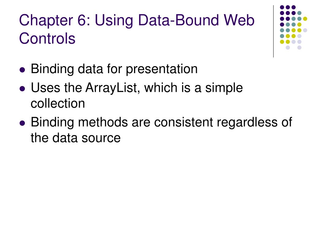 Chapter 6: Using Data-Bound Web Controls