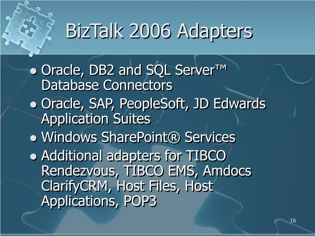 BizTalk 2006 Adapters