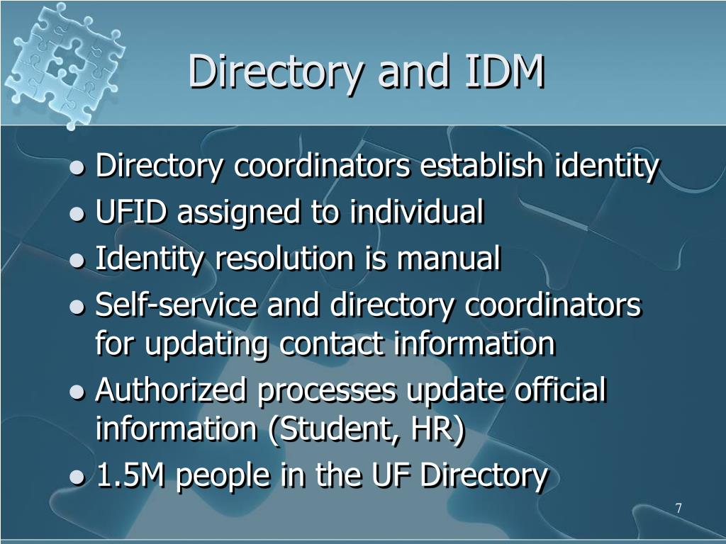 Directory and IDM