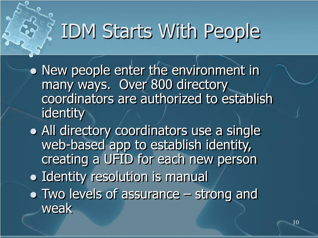 IDM Starts With People