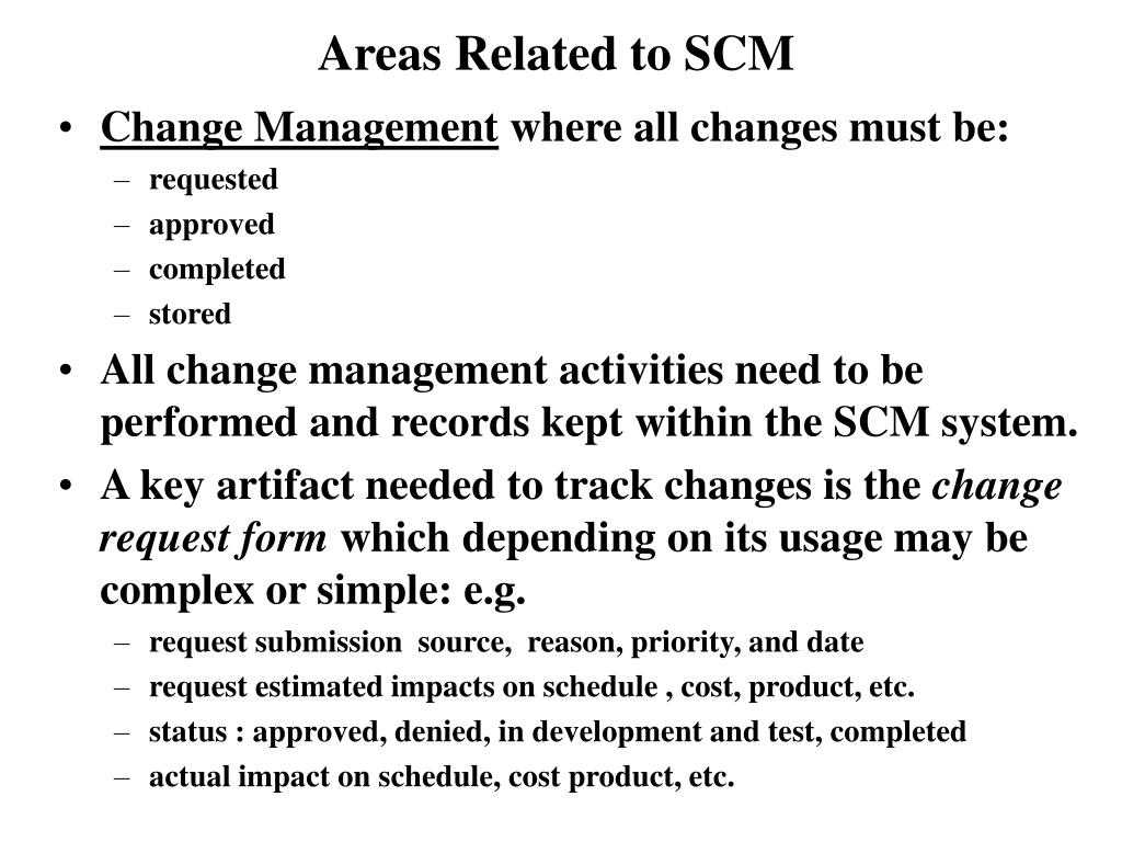 Areas Related to SCM