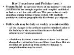 key procedures and policies cont10