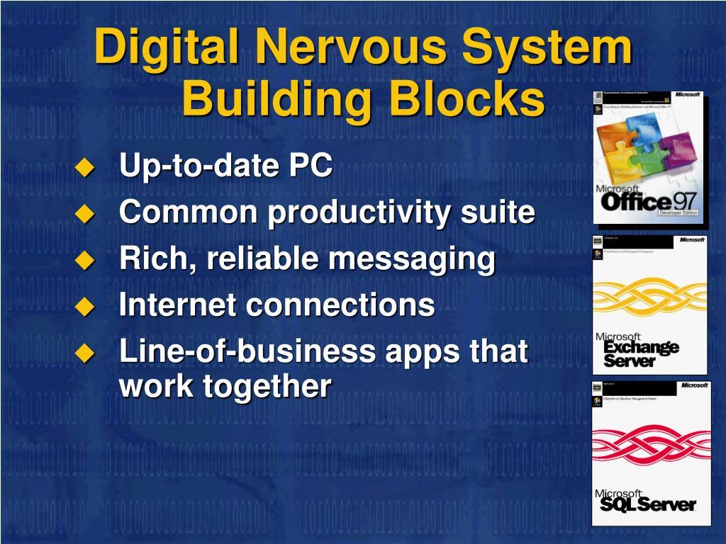 Digital Nervous System     Building Blocks