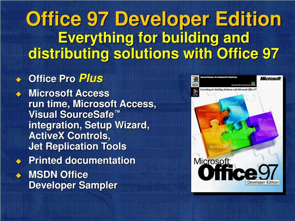 Office 97 Developer Edition