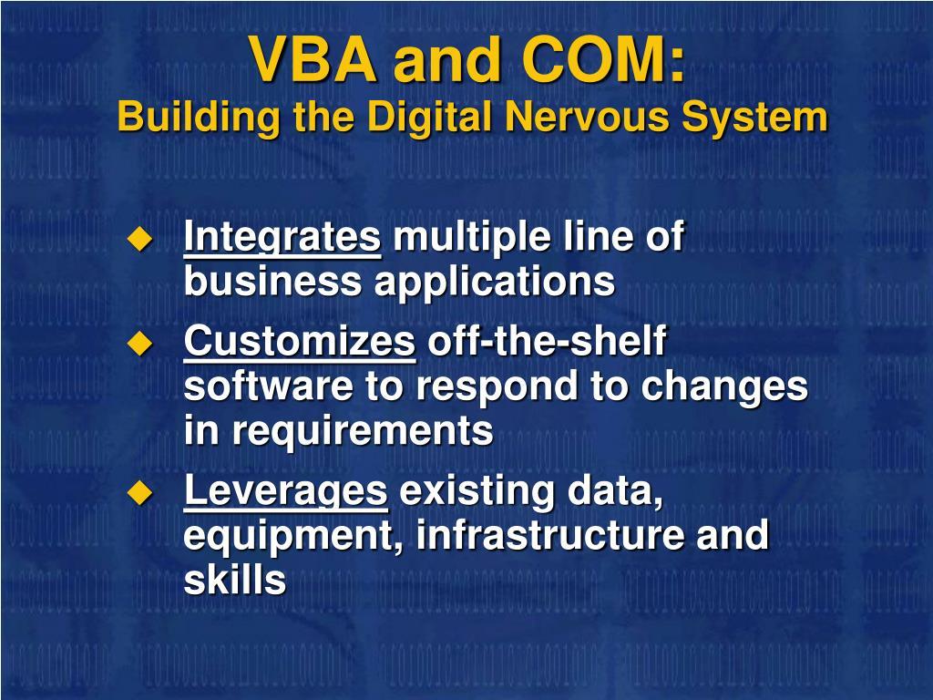 VBA and COM: