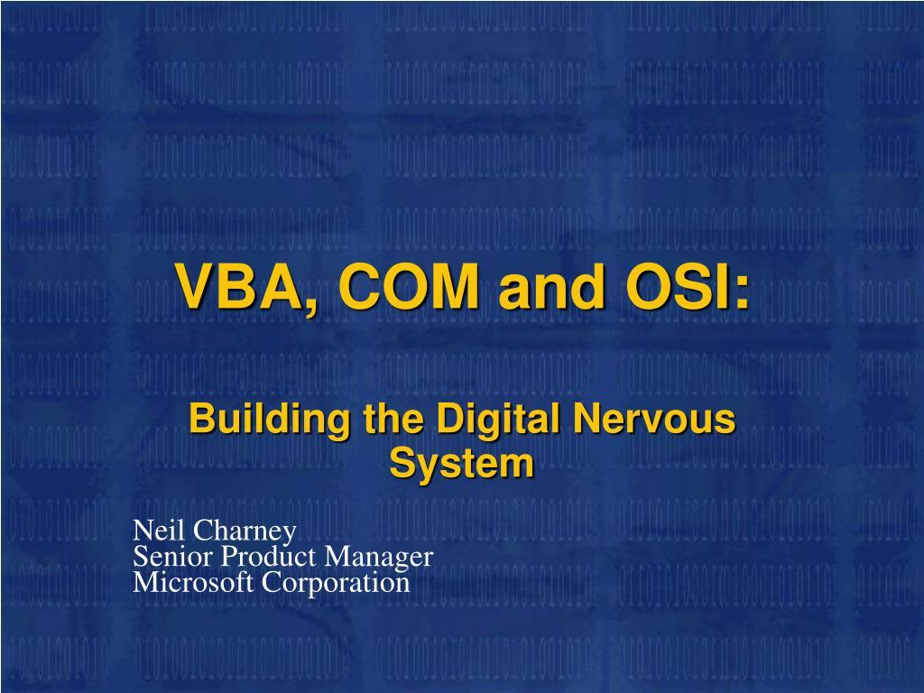 VBA, COM and OSI: