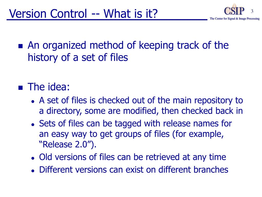 Version Control -- What is it?