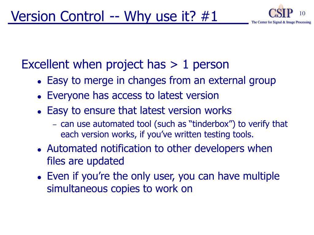 Version Control -- Why use it? #1