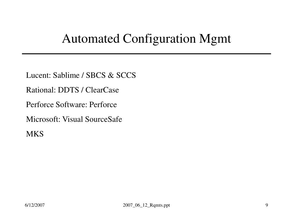 Automated Configuration Mgmt