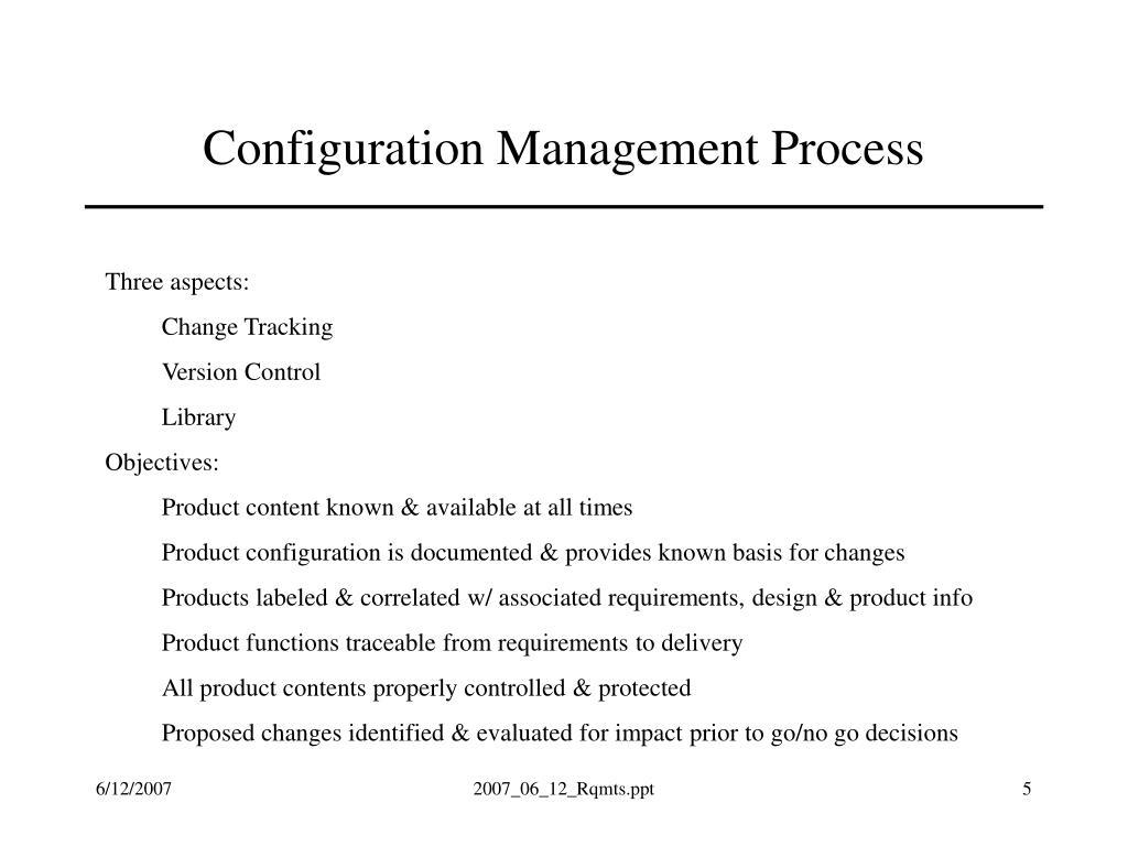 Configuration Management Process