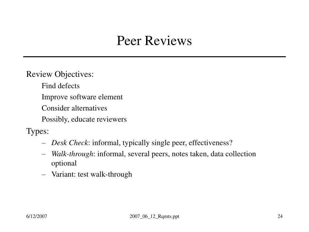Peer Reviews