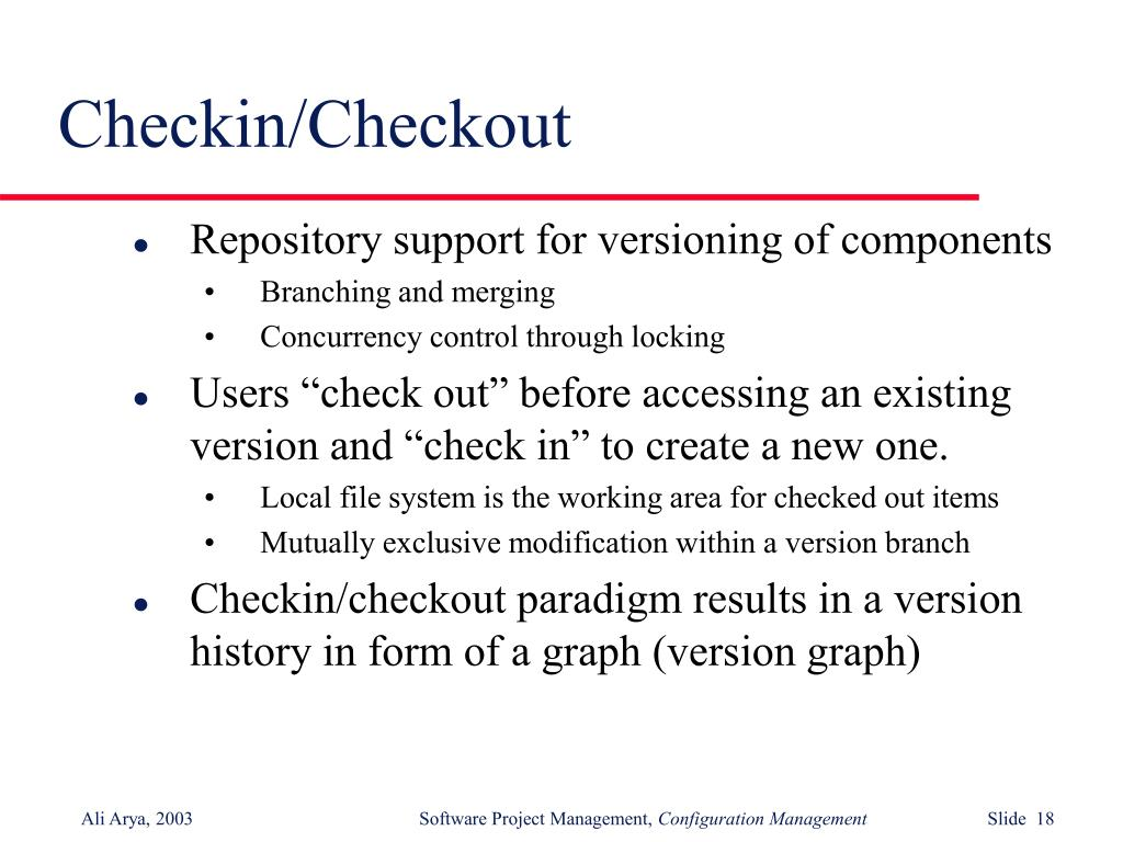 Checkin/Checkout